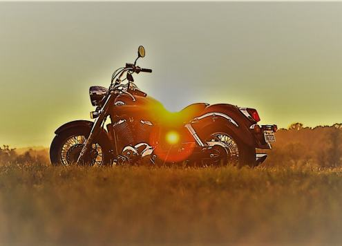 Motorcycle Sunset