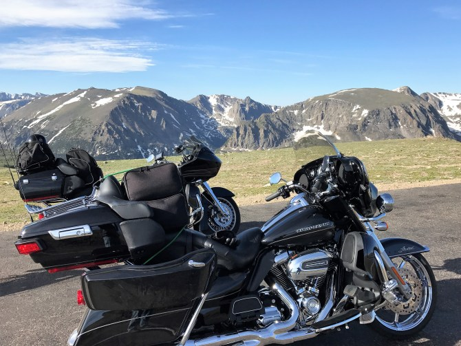 Hank Motorcycle Rocky Mountains