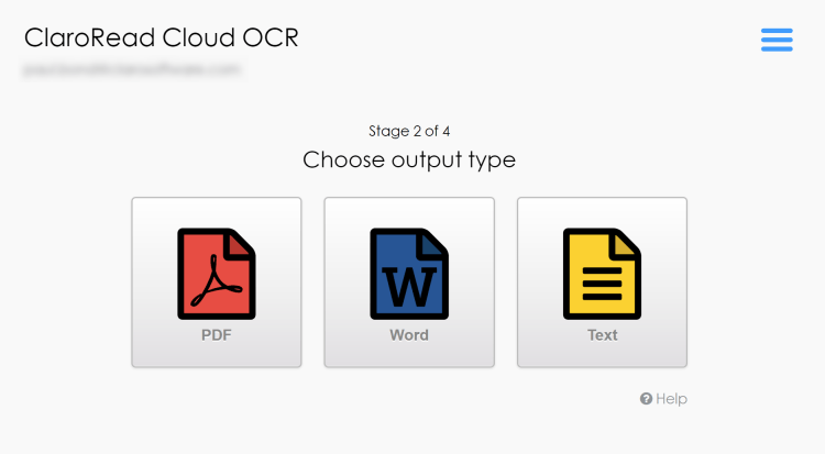 Super-simple output options - PDF, Word or text.