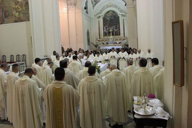 La concelebrazione con il Clero diocesano