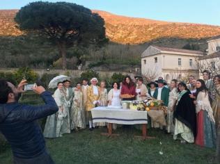 """La scena """"reale"""" pressp il Belvedere di San Leucio"""