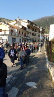 La processione dei fedeli durante la Statio