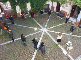 Il cortile interno di Palazzo Filangieri a San Potito Sannitico