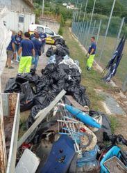Raccolte di rifiuti nel territorio matesino