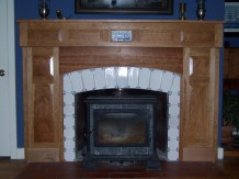 Mantel for Linda Cherry and handmade tiles