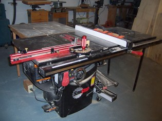"3 HP Sawstop Tablesaw w/36"" fence"