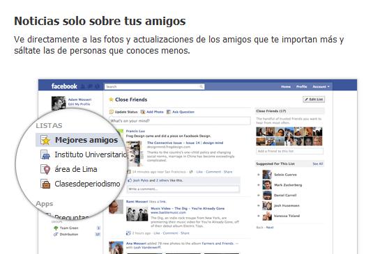 Noticias F acebook amigos Aprende a sacarle todo el partido a las listas de Facebook y controla quien ve tus post