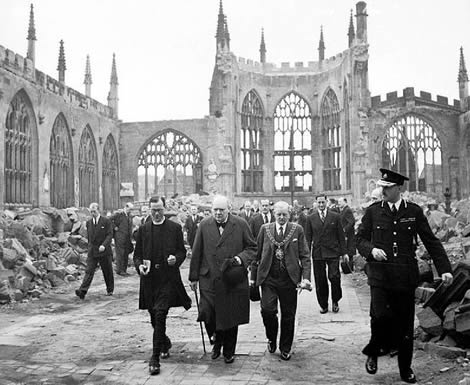 Coventry tras los bombardeos