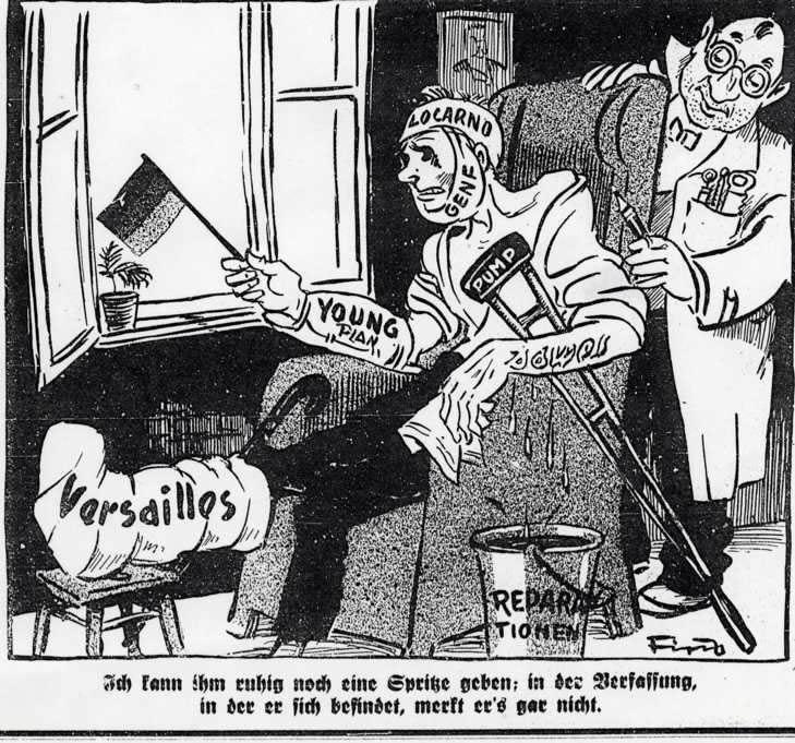 Resultado de imagen de tratado de versalles alemania caricatura