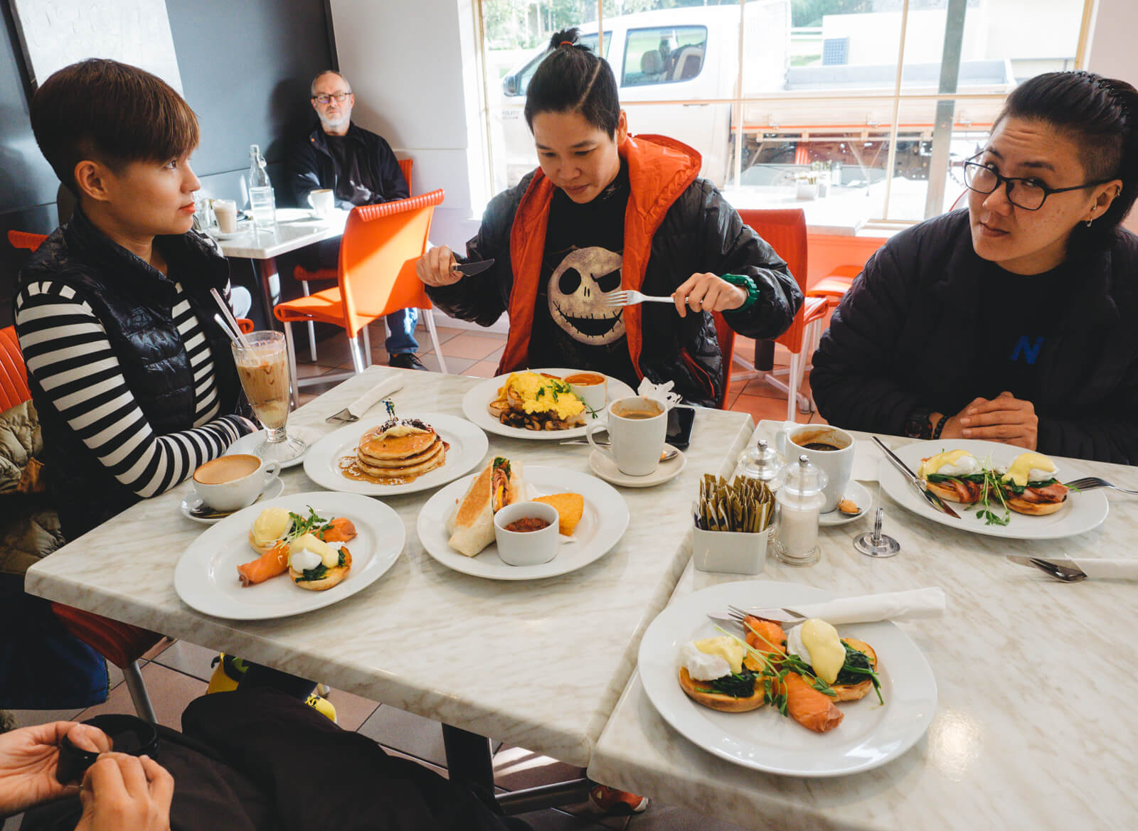 Breakfast at Cosi's cafe, Albany