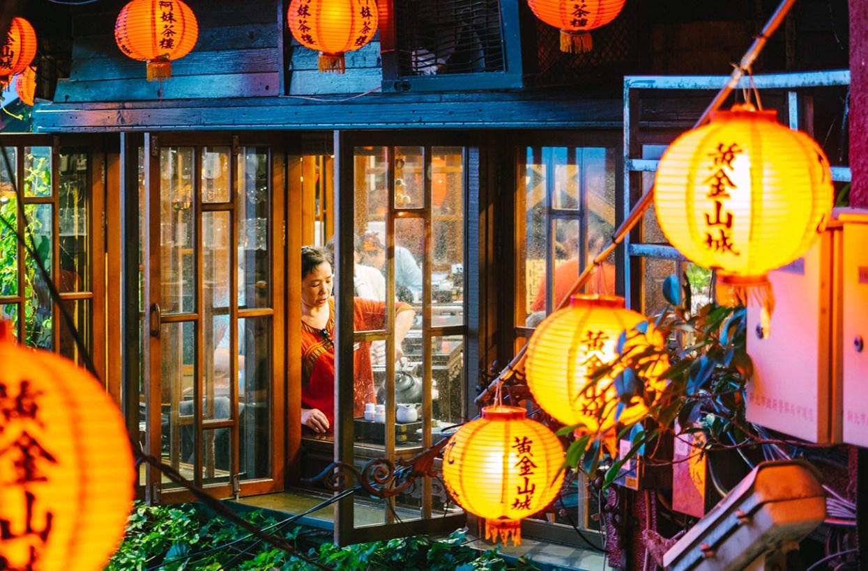 Taipei Jiufen - Teahouse window