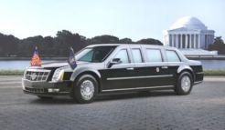 """Hoy en día, la limusina presidencial Cadillac debutó en el desfile inaugural del Presidente Obama el 20 de enero de 2009, ante una audiencia mundial. Apodado como """"Cadillac One"""", siguiendo el ejemplo de la nomenclatura de los aviones presidenciales, la limusina actual incorpora el diseño y los elementos técnicos de los automóviles Cadillac de producción, pero ha sido construido exclusivamente para su misión."""