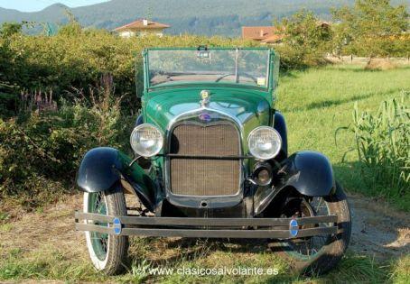 La imagen del Ford A es de extema sencillez, aunque no exenta de gracia.