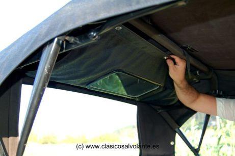 Para mejorar la ventilación la luneta trasera se puede abrir.