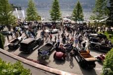 Una parte de la exposición de autos presentados a concurso.