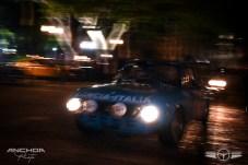 Foto nocturna de un Lancia Fulvia