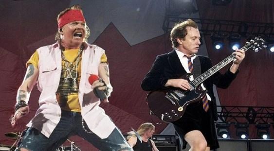 AC/DC a început turneul european cu Axl Rose