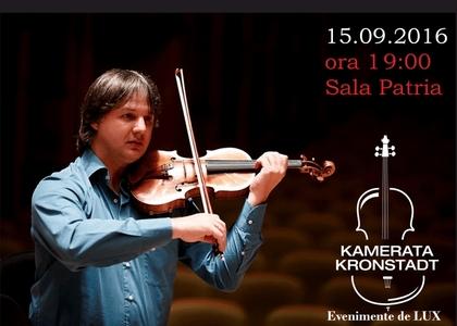 Violonistul Liviu Prunaru deschide stagiunea Kameratei Kronstadt
