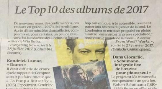 Dana Ciocarlie în top 10 realizat de publicaţia 'Les Echos'