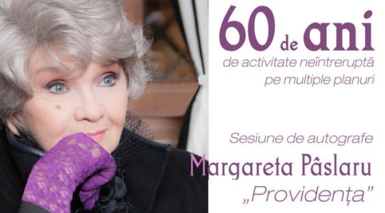 """Margareta Paslaru se întâlnește cu publicul și oferă autografe pe noul său album""""Providența"""""""