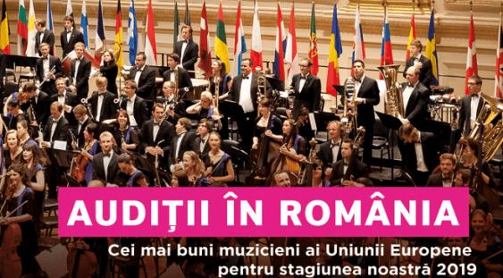 Audiții în România pentru Orchestra de Tineret a Uniunii Europene – EUYO