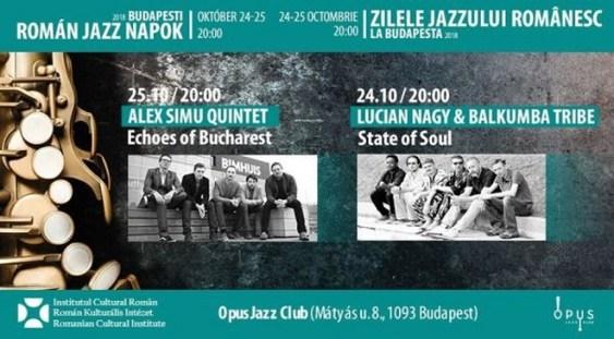 'Zilele jazzului românesc', la Opus Jazz Club din Budapesta
