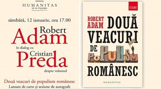 Robert Adam în dialog cu Cristian Preda