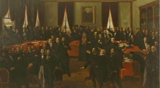 """MNIR: Lucrarea """"Proclamarea Unirii (24 Ianuarie 1859)"""" de Aman – expusă până la jumătatea lui februarie"""
