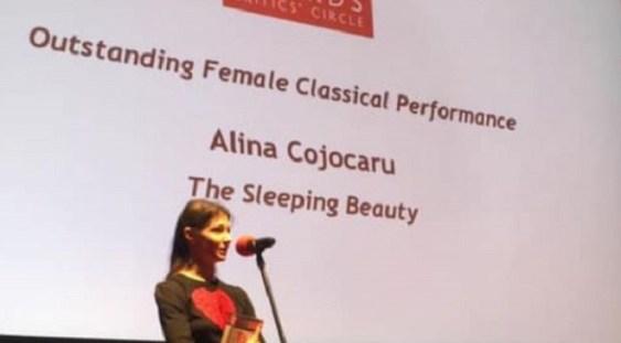 """Balerina Alina Cojocaru, premiată în cadrul """"National Dance Awards"""""""
