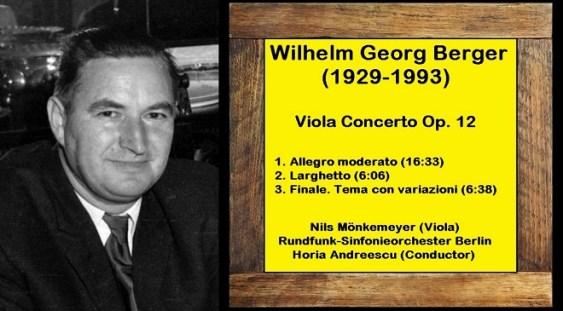 Mari interpreți/Mari Compozitori: WILHELM GEORG BERGER