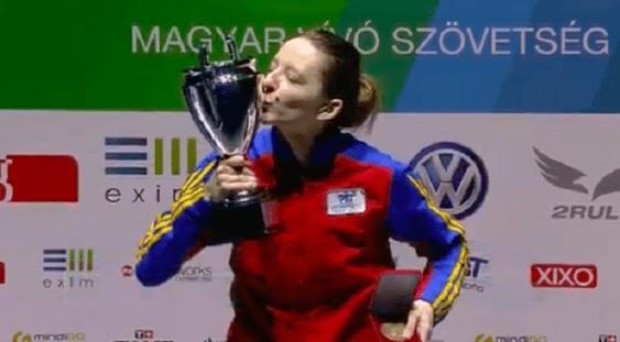 Medalie de aur pentru românca Ana Maria Popescu, la Grand Prixul de spadă de la Budapesta