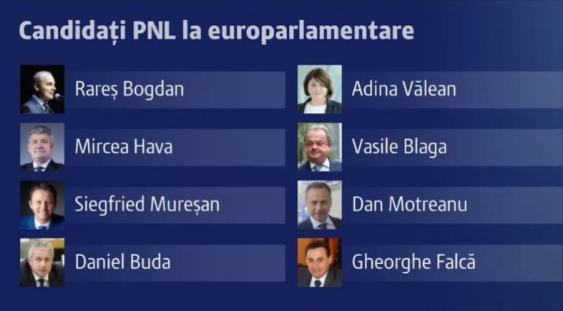 PNL a decis lista candidaților pentru alegerile europarlamentare 2019