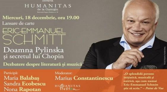 """Lansarea romanului """"Doamna Pylinska și secretul lui Chopin"""""""