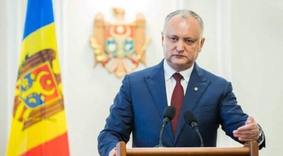 Igor Dodon anunță că va declanșa procedura de dizolvare a Parlamentului din Republica Moldova