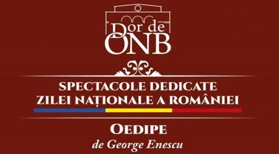 Două creații românești de excepție, transmise online de Opera Națională București, pe 1 Decembrie