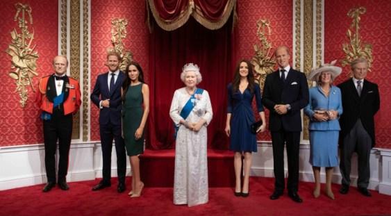 Figurile de ceară ale lui Harry și Meghan Markle, de la Madame Tussauds din Londra, au fost separate de cele ale familiei regale