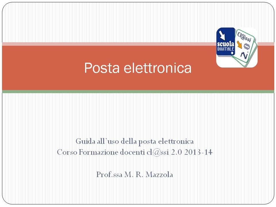 Posta elettronica 13 14