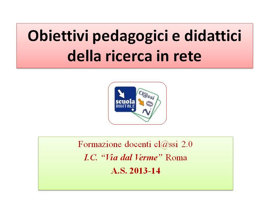 obiettivi ricerca 2014