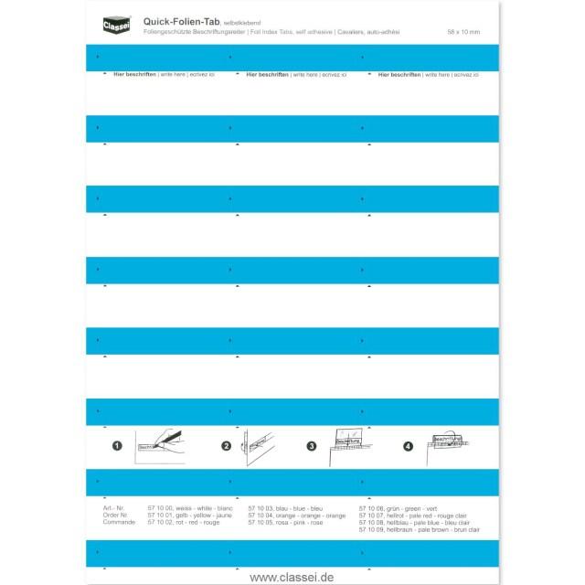 30 Folien-Tabs blau  Classei-Shop