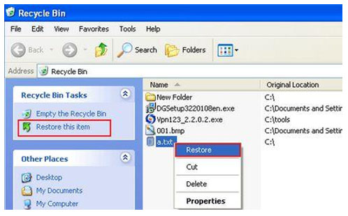 How to Recover Deleted Files From Recycle Bin_classiblogger_2