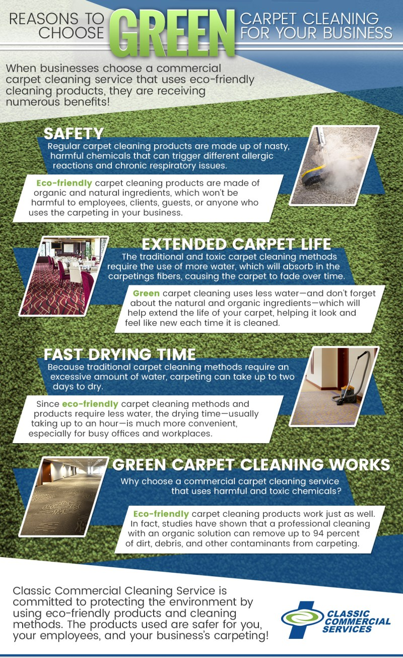 Why choose green carpet cleaning for your business?