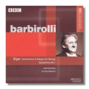 Cover of BBC recording of Sir John Barbirolli and the Hallé Orchestra playing Elgar's Introduction and Allegro fro Strings and Symphony No. 1.