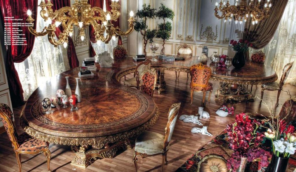 Italian Curved Dining Table In Baroque StyleTop And Best