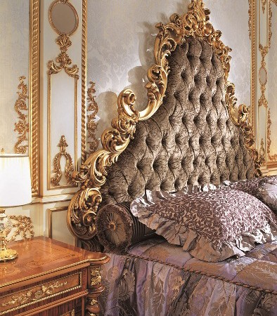 Italian Capitone Bedroom In Baroque Style Top And Best Italian Classic Furniture