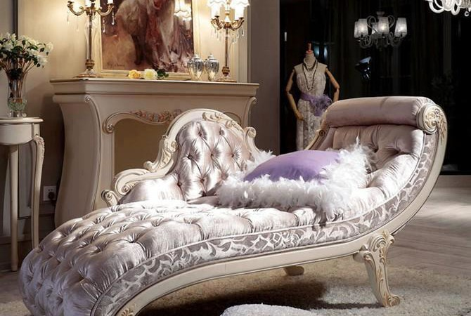 French Louis XV Style Chaise Lounge Top And Best Italian