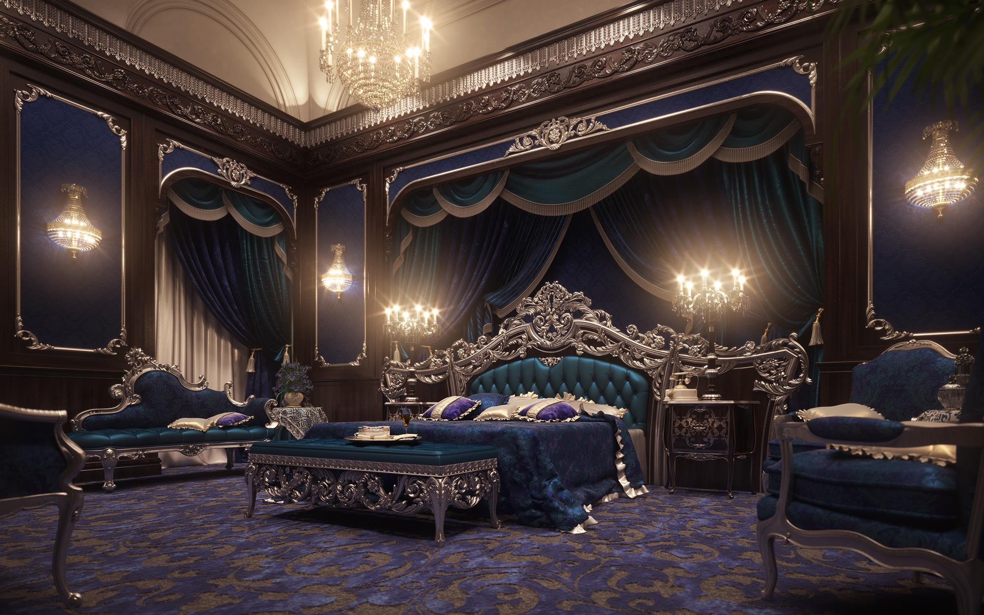 European Style Luxury Carved Bedroom SetTop And Best Italian Classic Furniture