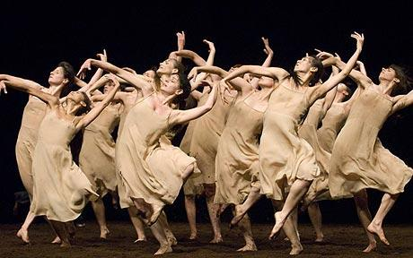 Pina Bausch's choreography for The Rite of Spring (Photo: Angela Taylor / Arenapal)