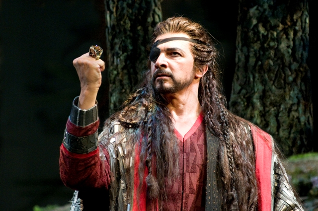 "Greer Grimsley in Seattle Opera's production of Wagner's ""Das Rheingold."" (Photo: Rozari Lynch)"
