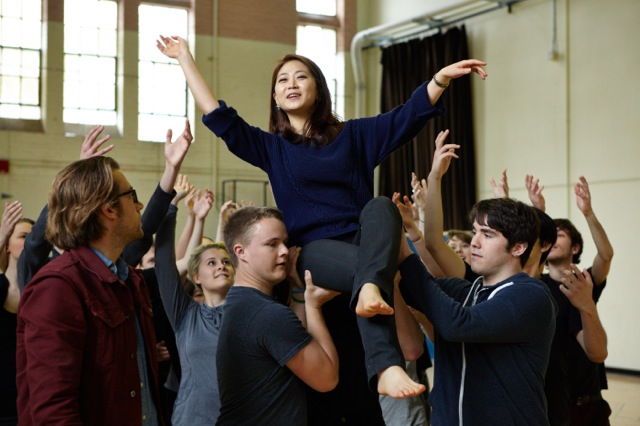 "Soprano Haeran Hong in a rehearsal of Handel's ""Semele"", a joint production by Pacific MusicWorks and the UW School of Music (Photo: Steve Korn)"
