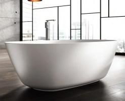 Freistehende Designer Badewanne aus Mineralguss Organic ...